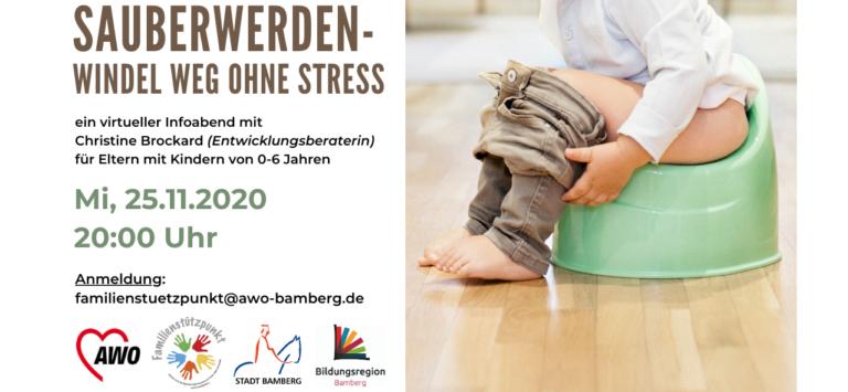 """Read more about the article Aufgrund hoher Nachfrage zwei Termine! """"Sauberwerden – Windel weg ohne Stress"""""""