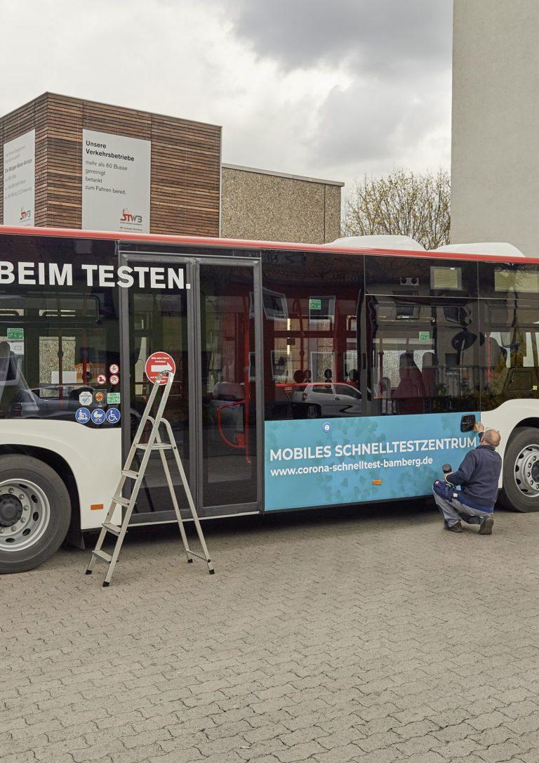 Read more about the article Startschuss für den Bamberger Schnelltest-Bus