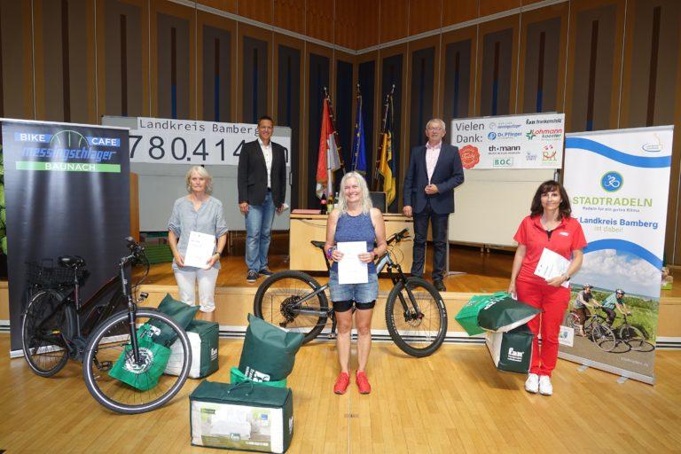 Read more about the article Der Landkreis Bamberg feiert die Gewinner und erneute Verdoppelung der Teilnehmer beim STADTRADELN